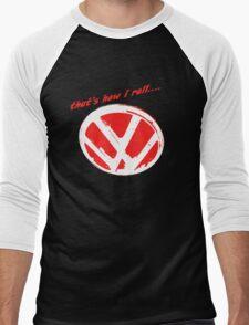 VW logo - that's how i roll...  Men's Baseball ¾ T-Shirt