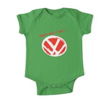 VW logo - that's how i roll...  One Piece - Short Sleeve