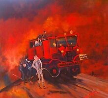The Vintage Fire Truck and the wonderful band of volunteers by Margaret Morgan (Watkins)
