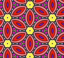 Retro Floral Design by incurablehippie
