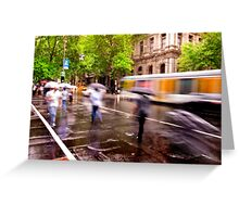 Melbourne Downpour Greeting Card