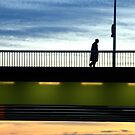 Paris -  Sunset Bridge. by Jean-Luc Rollier