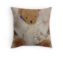 Mrs Bear in her fur coat Throw Pillow