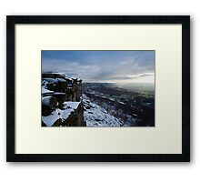 Curbar and Baslow Edge Framed Print