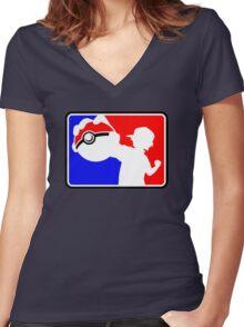 MLG Pokemon Women's Fitted V-Neck T-Shirt