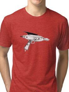 RETRO ASTRO RAYGUN SPACE Science Fiction Tri-blend T-Shirt