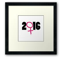 2016 election Framed Print