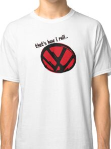 VW logo - that's how i roll... black & red text Classic T-Shirt