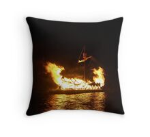 Scalloway Galley Throw Pillow