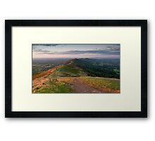 From Worcestershire to Herefordshire, Malvern Hills, England Framed Print