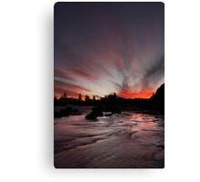 Mona vale sunset.  Canvas Print