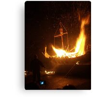 Setting the Galley Alight Canvas Print