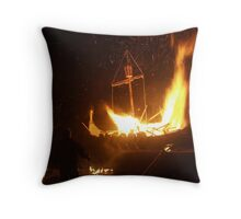 Setting the Galley Alight Throw Pillow