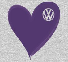 VW Dark Purple Heart  Kids Tee