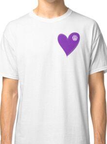 VW Dark Purple Heart  Classic T-Shirt