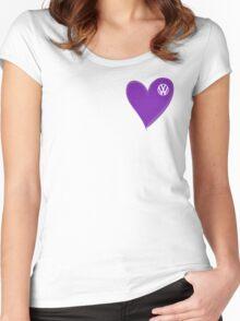 VW Dark Purple Heart  Women's Fitted Scoop T-Shirt