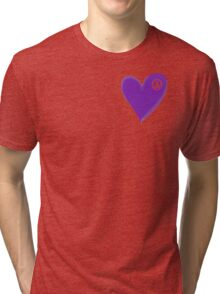 VW Dark Purple Heart  Tri-blend T-Shirt