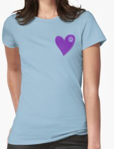 VW Dark Purple Heart  Womens Fitted T-Shirt