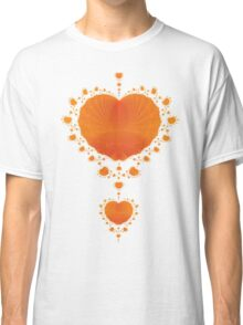 Orange Hearts Classic T-Shirt