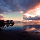 Nudgee Beach Sunrise. Brisbane,  Queensland, Australia. by Ralph de Zilva