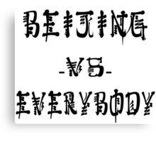 Beijing VS everybody Canvas Print