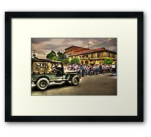 Parade at Plaza Framed Print