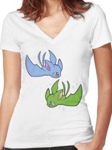 Zubats Women's Fitted V-Neck T-Shirt
