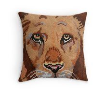 Lion In Waiting Throw Pillow