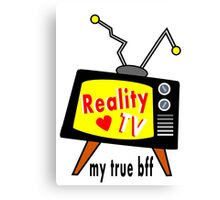 Reality TV My BFF Old-fashioned TV Set Canvas Print