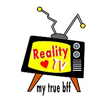 Reality TV My BFF Old-fashioned TV Set Photographic Print