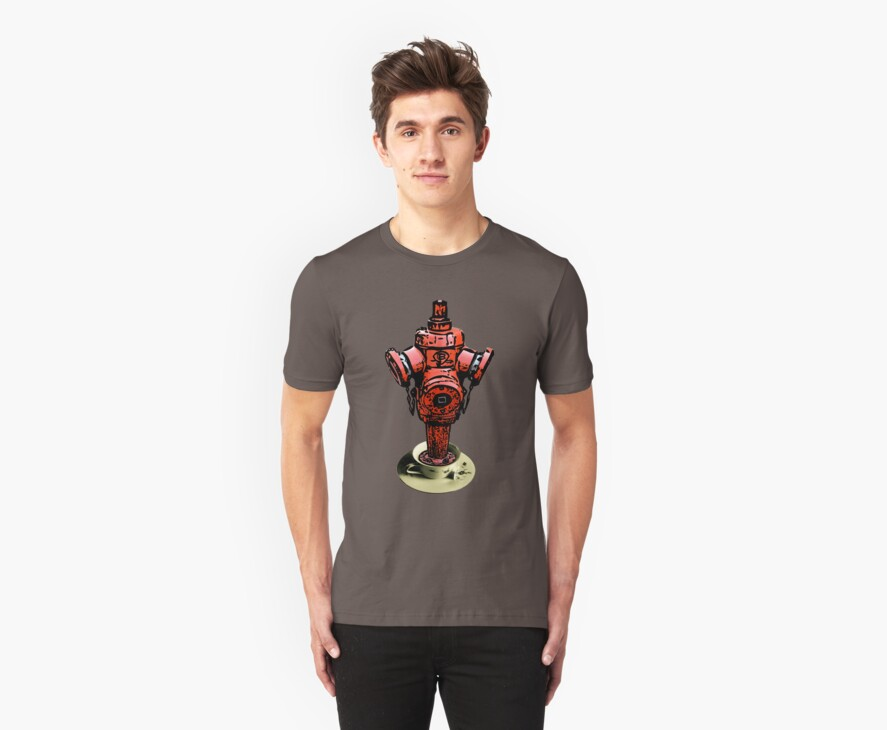 All fired up for tea? Fire hydrant tea tee!  by Denis Marsili
