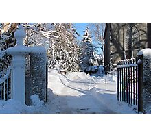 Snowy Gated Drive Photographic Print
