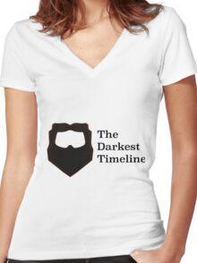The Darkest Timeline Women's Fitted V-Neck T-Shirt