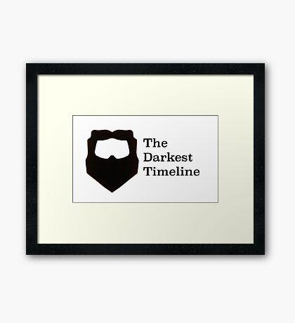 The Darkest Timeline Framed Print