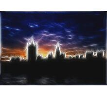 Skyline of London in Fractalius Photographic Print