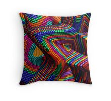 Fun with beads Throw Pillow