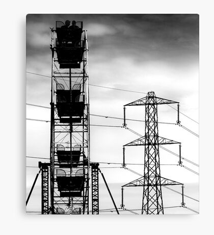 Transformers in the skies Canvas Print