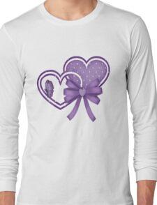 Lilac Hearts Long Sleeve T-Shirt