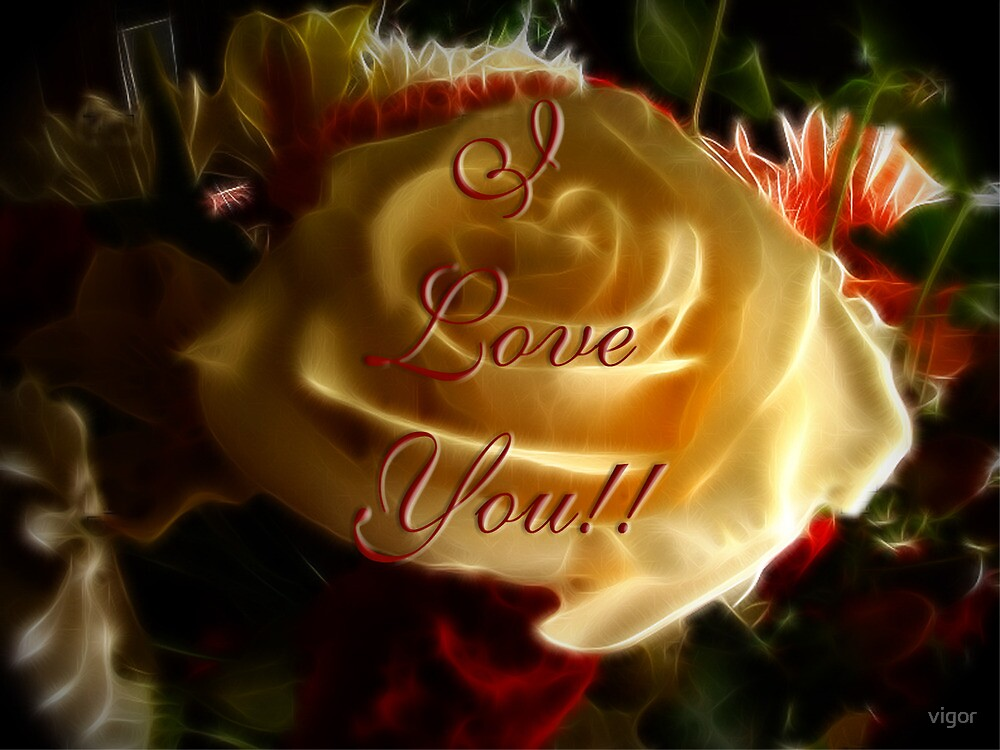 I love you! Valentines' Card by vigor