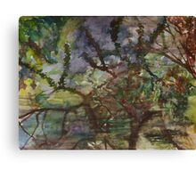Reflections of Branches Bending Gently, 2001 Canvas Print