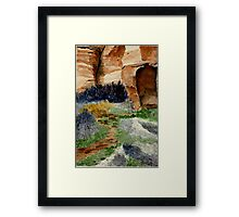 Canyon Path for Challenge Framed Print