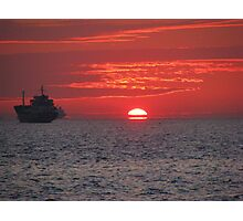 A sunset in Pendik,Istanbul. Photographic Print