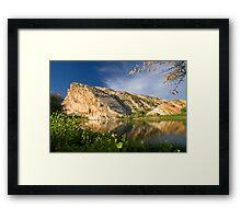 Split Mountain Reflections Framed Print