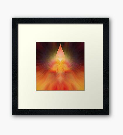 Rising Flame Framed Print