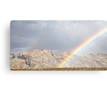 Split Mountain Rainbows Close-up Canvas Print