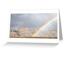Split Mountain Rainbows Close-up Greeting Card