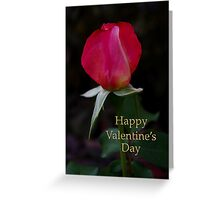 rose bud valentine card Greeting Card