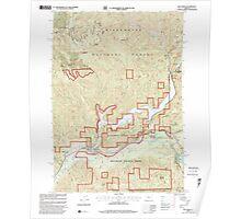 USGS Topo Map Oregon Blue River 279075 1997 24000 Poster