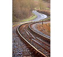 Dart Valley Railway Track, no.2 Photographic Print