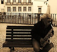 Playing downtown by VanessaPinto